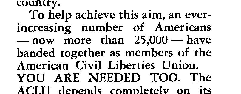 To help achieve this aim, an everincreasing number of Americans - now more than 25,000-have banded together as members
