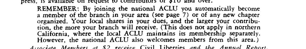 annual report on U.S. other material of general liberties. interest. the They are also entitled to single copies of sane 25 ACLU pamphlets, without charge.