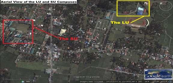 schools are located within the same locality in a town in Laguna. They are just a 15-minute walk away from each other separated only by the national road. Figure 1.