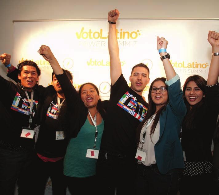 Voto Latino at a Glance Shaking Up the Political Process Voto Latino is a pioneering civic media