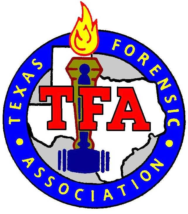 Texas Forensic Association Constitution and Contest Rules Revised June 27, 2014 The purpose of the Texas Forensic Association is to bring about more effective cooperation among the members of the