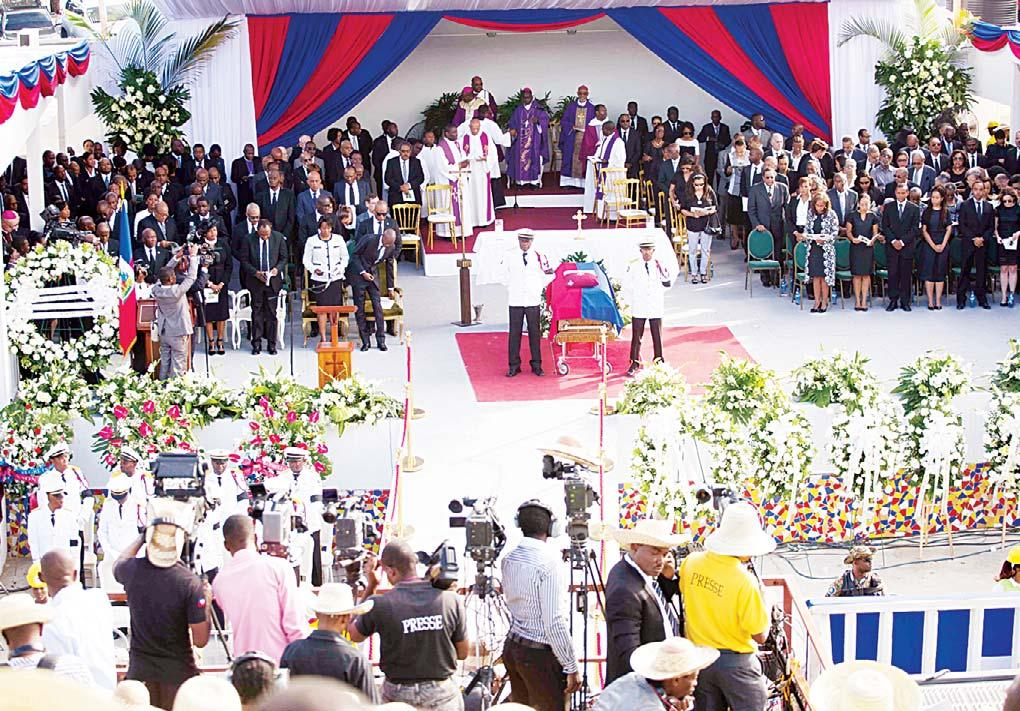 INTERNATIONAL 17 Lat/Am Preval Final farewell for Preval: Thousands of Haitians gathered on Saturday to say an emotional final farewell to former president Rene Preval, 74, the country s first