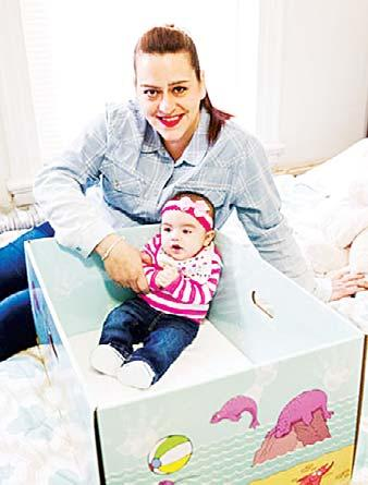 Parents are beginning to take baby boxes home from hospitals along with their newborns.