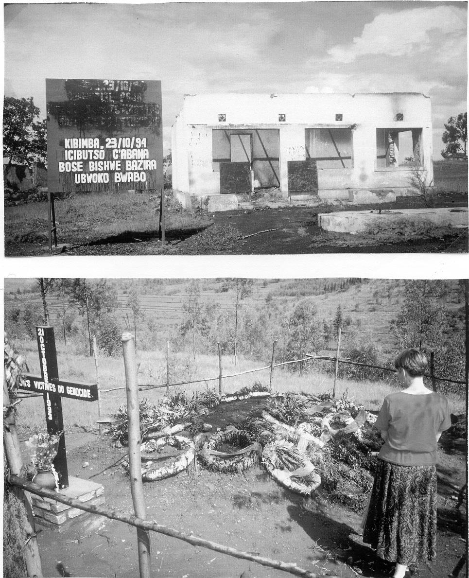 Remembrance, Kibimba Above: Kibimba petrol station ruin in which Tutsi students from Kibimba Secondary School were doused in gasoline and burned alive following