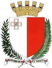 17 The current emblem of Malta is described by the Emblem and Public Seal of Malta Act (1988) as a shield showing an heraldic representation of the National Flag; above the shield a mural crown in