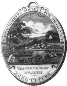 In 1801, when this medallion was struck, 90 percent of Americans lived on farms. Today, far fewer farmers produce far more wealth. tory.