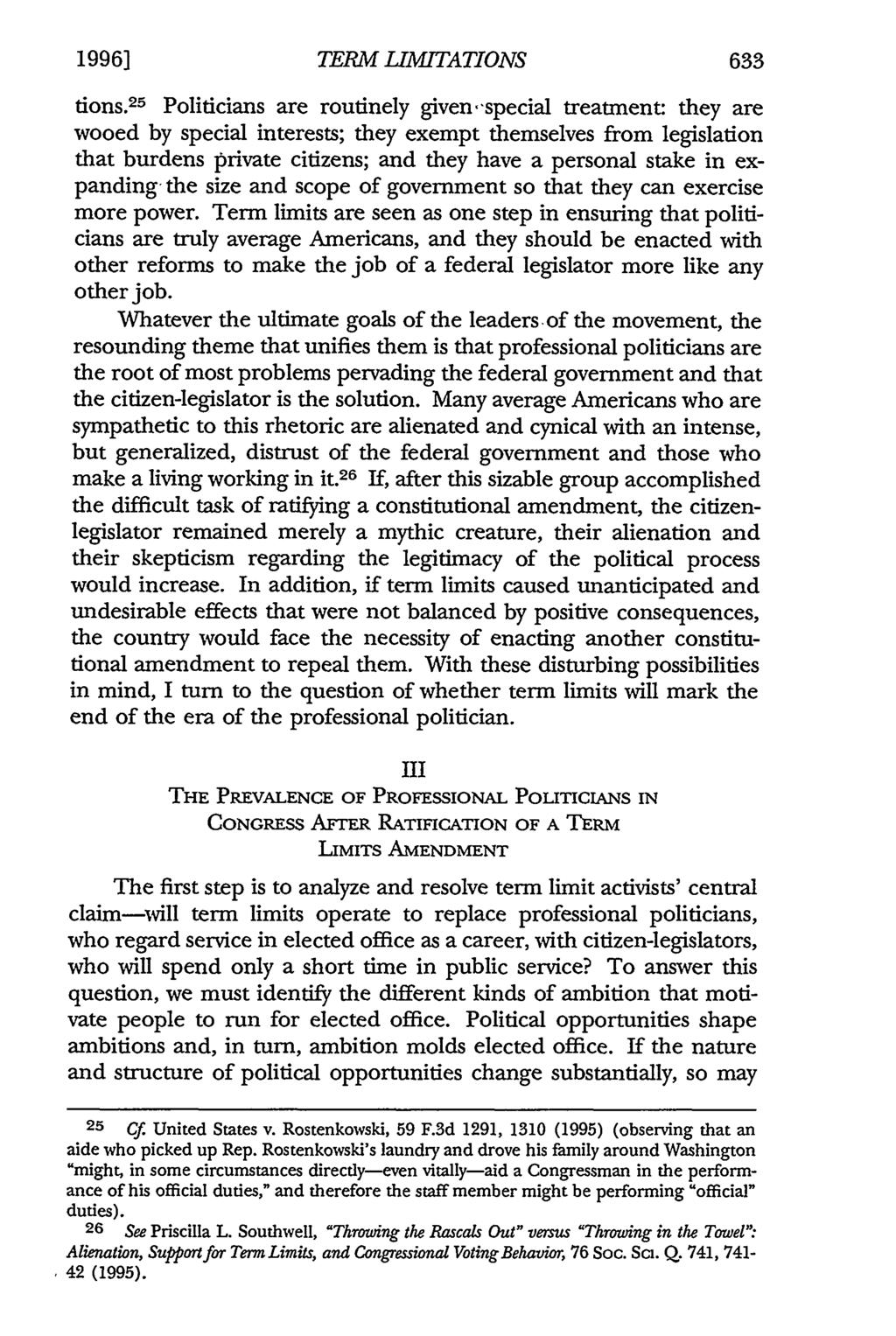 1996] TERM LIMITATIONS 633 tions.