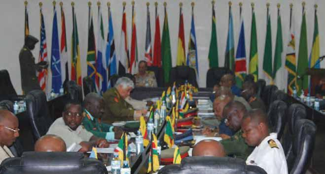 The fourth African Conference of Commandants conference, held in Uganda in November 2010.