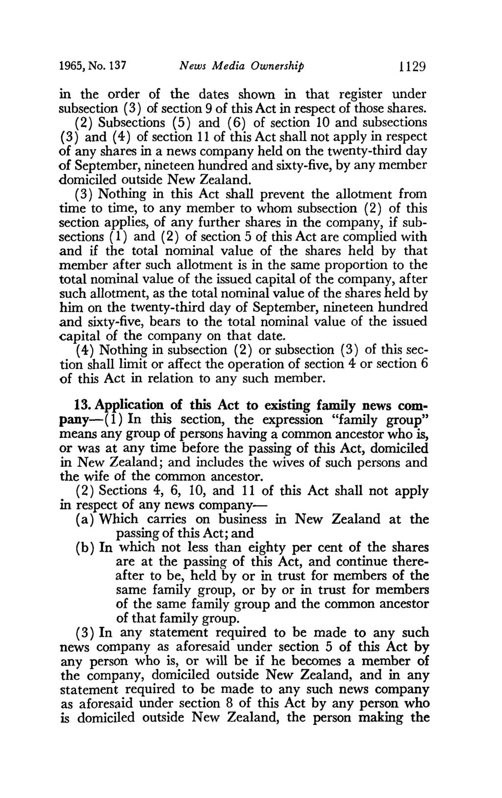 1965, No. 137 News Media Ownership 1129 in the order of the dates shown in that register under subsection (3) of section 9 of this Act in respect of those shares.