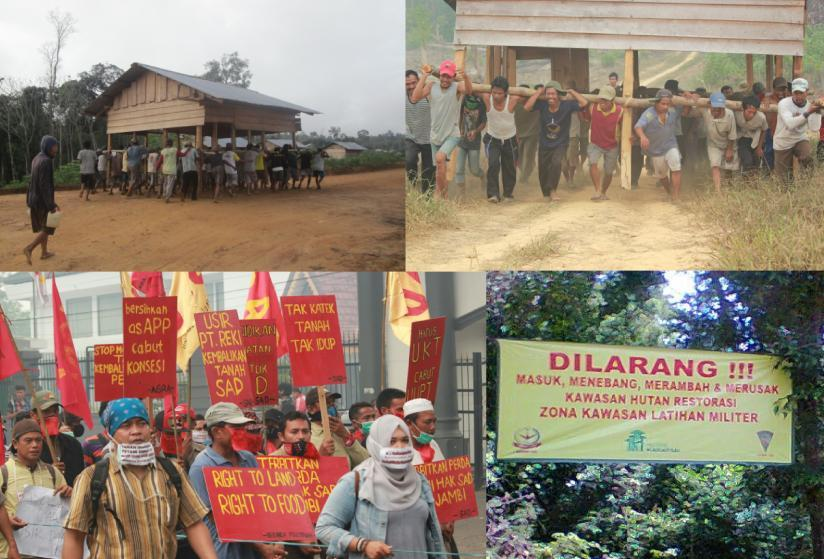 Figure 41 Clockwise Ulu Badak Community Do Gotong Royong AGRA; REKI Put Banner Military Zone withis its