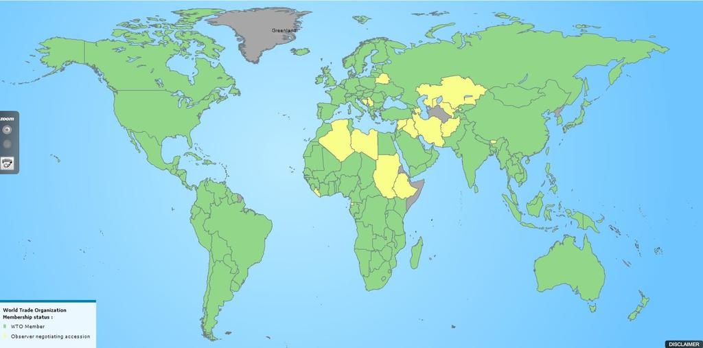 WTO Membership Map WTO