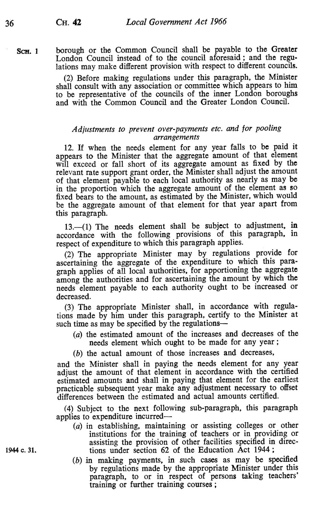 36 CH. 42 Local Government Act 1966 Scn.