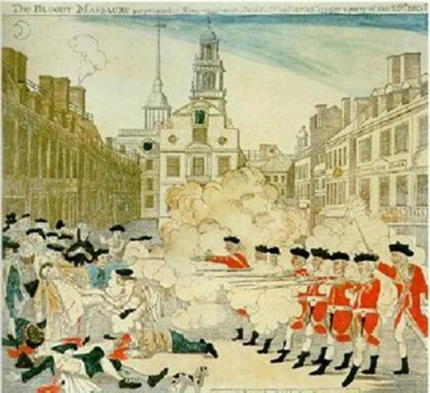The Boston Massacre Britain sent troops to Boston to help stop the violent colonial protests against the taxes March 5, 1770, British soldiers opened fire on an unruly group of colonists snowball