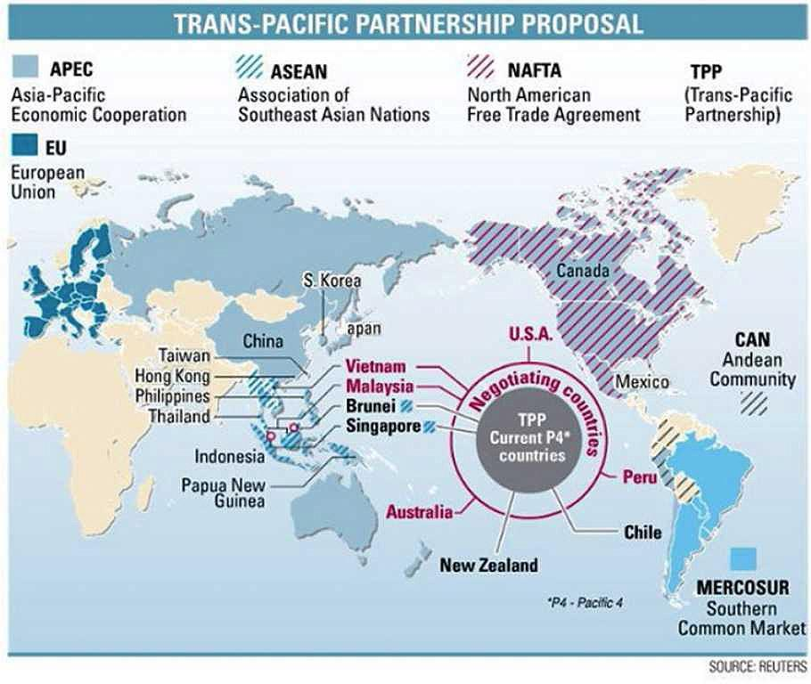 NEW KID ON THE BLOCK: TPP The original agreement among the countries of Brunei, Chile, New