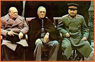 US/USSR Relationship during WWII Before the end of the World War II, Stalin, Churchill and Roosevelt met at Yalta to plan what should happen when the war ended. They agreed on many points: 1.