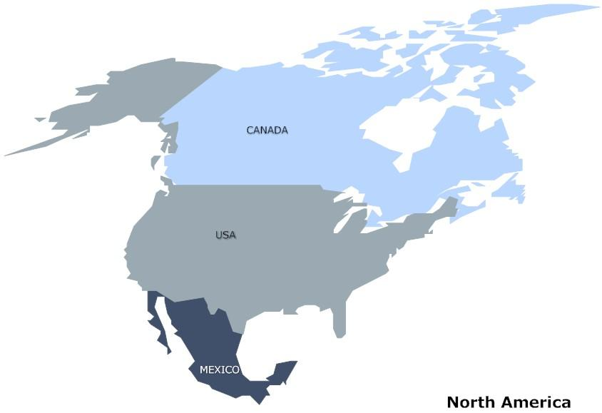 North America is emerging as a global energy power Mexico is the US largest energy market, consuming over $20 billion in energy goods Canada is the US biggest energy supplier, providing over $54