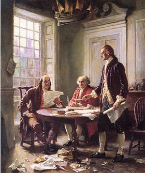 DECLARATION OF INDEPENDENCE On July 4, 1776, the Continental Congress voted unanimously that the American Colonies were free and they adopted
