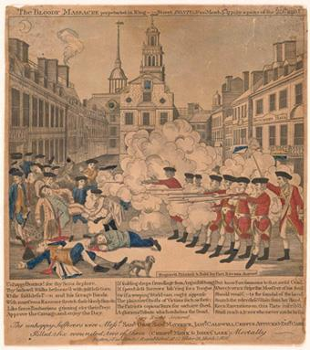 TENSION MOUNTS IN MASSACHUSETTS The atmosphere in Boston was extremely tense The city erupted in bloody clashes and a daring tax protest, all of which pushed