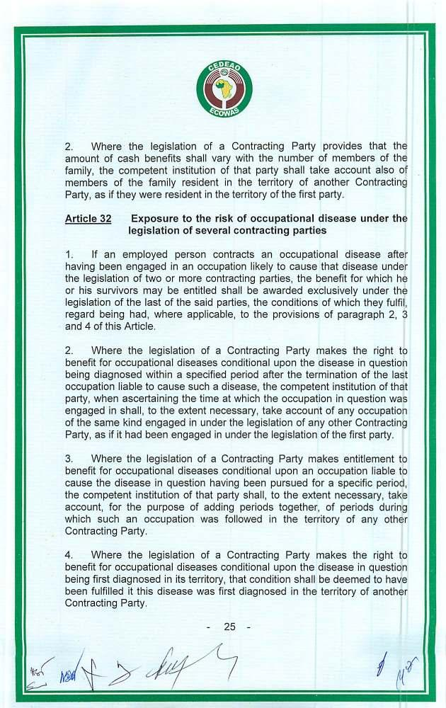 2. Where the legislation of a Contracting Party provides that the amount of cash benefits shall vary with the number of members of the family, the competent institution of that party shall take