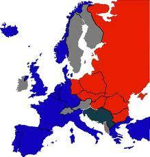 Europe After WWII Divided between the West & East West- Gr Brit, France, Italy, W