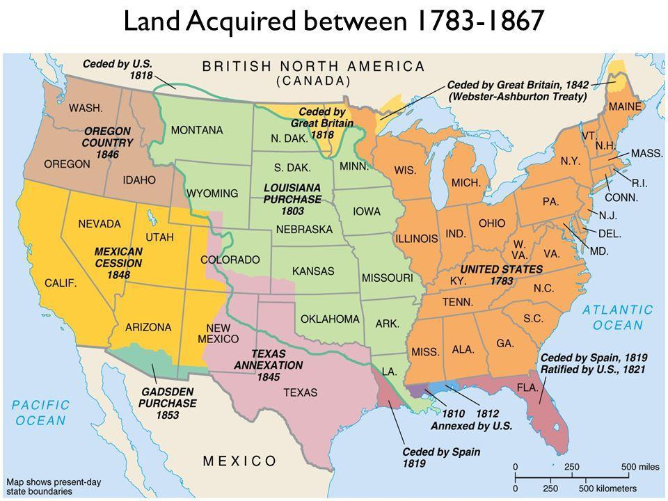 Land Acquired between 1783-1867 Louisiana Purchase