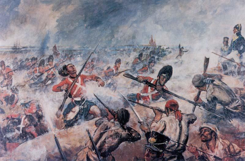 BATTLE OF NEW ORLEANS Fought two weeks after Treaty of Ghent sealed General Andrew Jackson s ragtag army of 4,000 defeated 8,000 disciplined British regulars in resounding fashion.