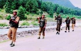 POLICE FORCES responsibility is spread over 6416.86 kms of international border along Indo-Pakistan and Indo- Bangladesh borders.