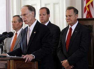 Alabama s governor, chief justice, and legislative leaders played a central role during justice