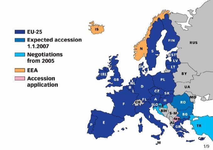 Members of the European Union EEA = European Economic Association, a free trade
