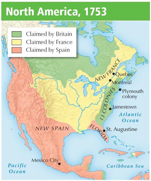 I. Spain, France, and England all established major colonies in the Americas.