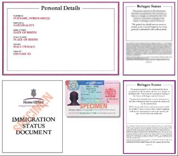 A current Immigration Status Document issued by the Home Office to the holder with an endorsement indicating that the named person is allowed to stay indefinitely in the UK or has no time limit on