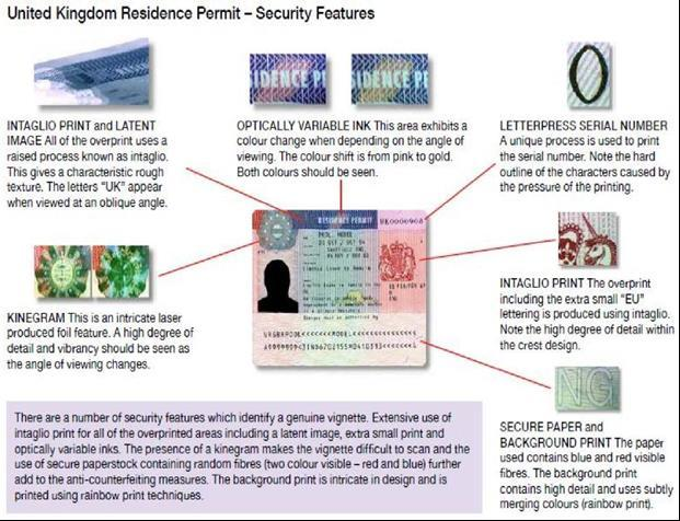 enter or remain in the UK. The UK Residence Permit replaced most of the ink stamps used, however, you may still find ink stamps in documents in circulation.