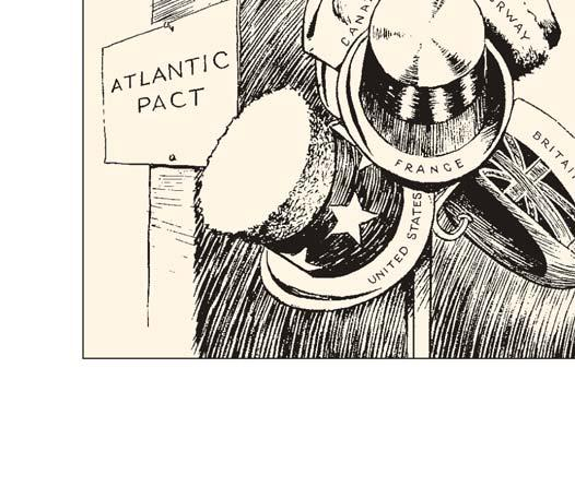 This cartoon depicts the nations that signed the North Atlantic Pact, which created NATO in 1949.