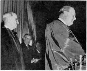 CHURCHILL: IRON CURTAIN ACROSS EUROPE Churchill, right, in Fulton, Missouri delivering his iron curtain speech, 1946 Europe was now divided into two political regions; a mostly democratic
