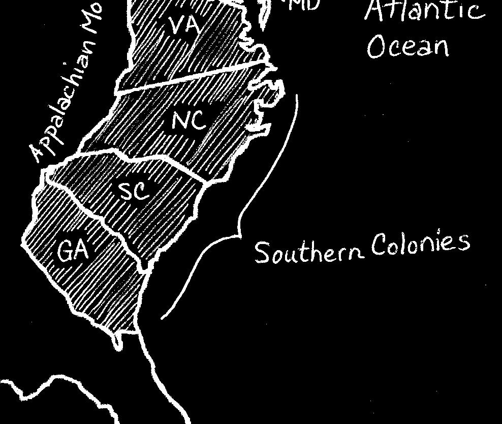 English explorers mapped and claimed parts of the Atlantic coast from Georgia to Canada. French explorers claimed areas near the Great Lakes and along the Mississippi River.