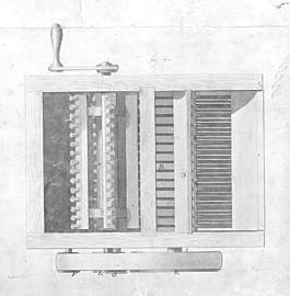 Eli Whitney invented the cotton gin. Textile mills demanded more cotton, but the short-fibered cotton that could be grown away from the coast was hard for slaves to clean by hand.