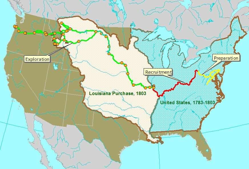 Map of Lewis and Clark's
