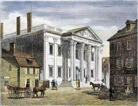 Hamilton proposed a national bank to stabilize the