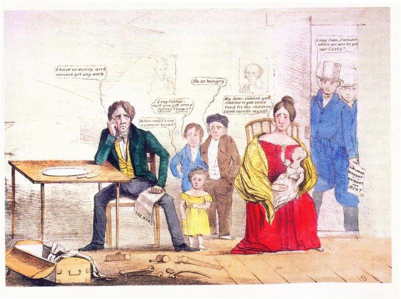 The Panic of 1837 *Van Buren took office when Britain was experiencing an economic slowdown so their manufacturers bought less cotton.