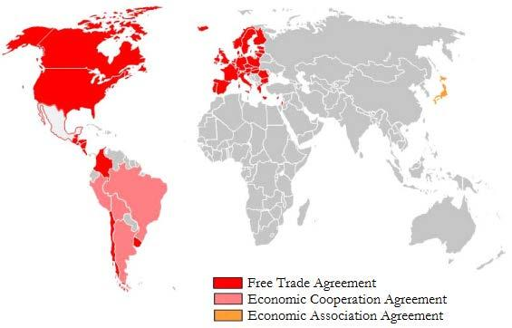 Mexico s Trade Agreements Mexico has 42 trade agreements.