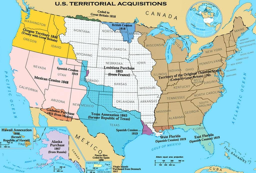 War with Mexico President James Polk offered to buy the land from Mexico Mexico refused to sell Border disputes eventually led to war Americans won and signed the
