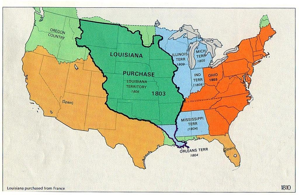 Louisiana Purchase 1803-Jefferson wanted to expand the U.S.