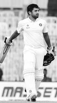 It was a day that solely belongs to the 25-yearold Karun, who become the second Indian batsman after the legendary Virender Sehwag (twice) to hit a triple hundred in Test match cricket.