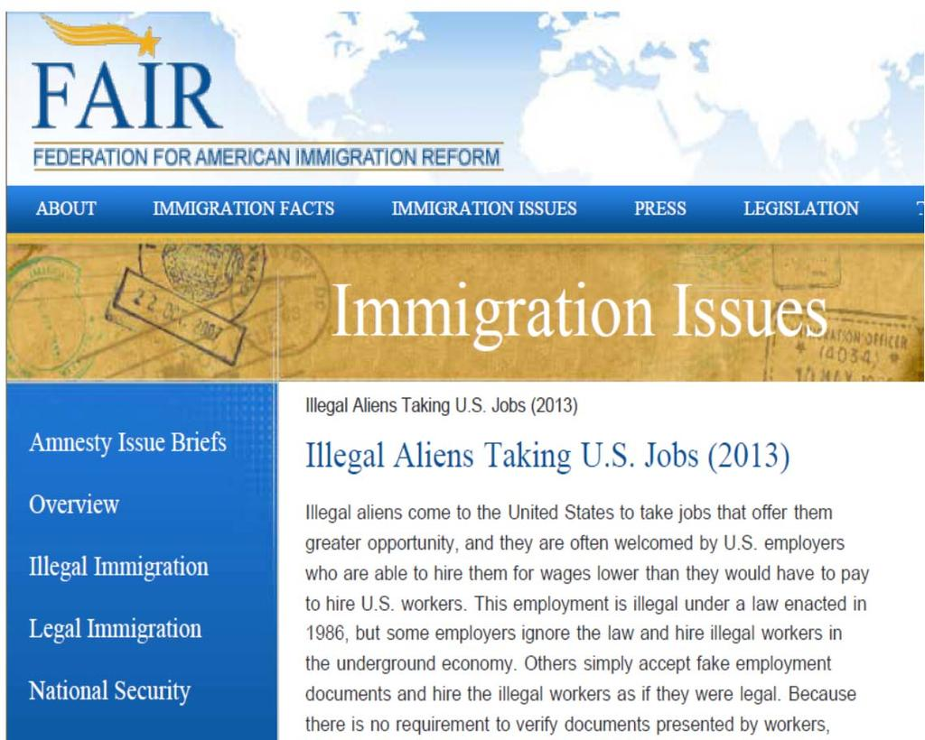 Type 1: Immigrants take jobs and depress wages Immigrants take jobs They depress