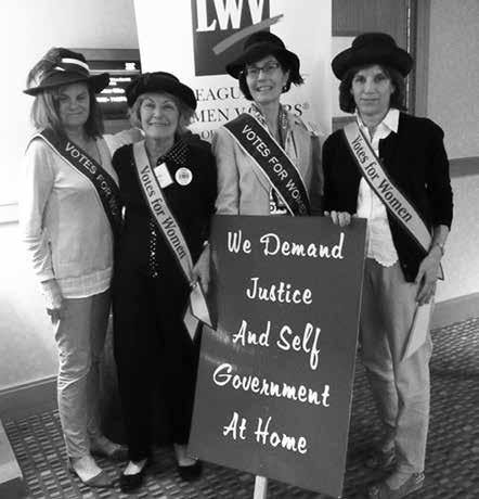 LWVG Members Attended 2016 National Convention in Washington, DC Four members of the Greenwich League Caroline Adkins, Hillary McGuire, Joanne Stavrou and Liz van Caloen travelled to Washington, D.C. in June to attend the LWV National Convention.