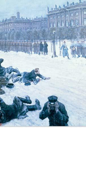 Bloody Sunday: The Revolution of 1905 On January 22, 1905, about 200,000 workers and their families approached the czar s Winter Palace in St. Petersburg.
