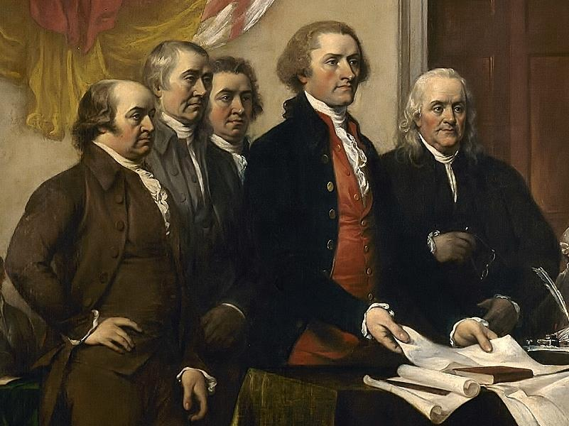 Committee of Five On June 11, 1776, the Continental Congress selected Thomas Jefferson, Benjamin Franklin, Roger