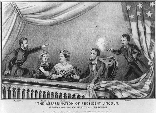 Lincoln s Assassination On April 14, 1865, President Abraham Lincoln is shot in the back of the head at Ford s Theater by John