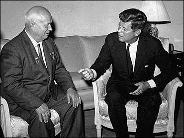 Khrushchev & JFK meet to discuss Berlin and nuclear weapons.