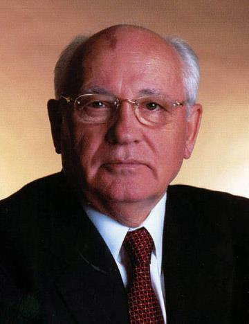 Mikhail Gorbachev, head of USSR, reduced
